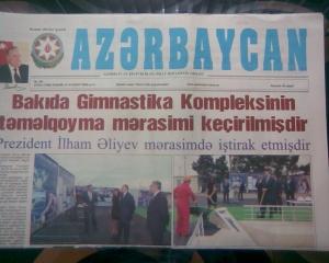 """""""Azərbaycan"""" qəzeti, 27 avqust, 2009"""